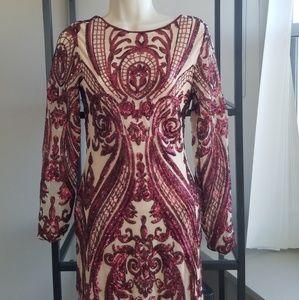 Dresses - NWT stunning faux nude mini dress